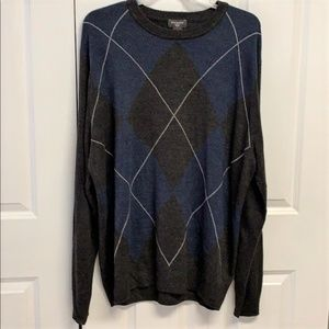 Dockers Sweater Size XL Tall Diamond Print
